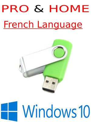 Windows 10 French Pro and Home USB with Activation Key *Many Colours available*