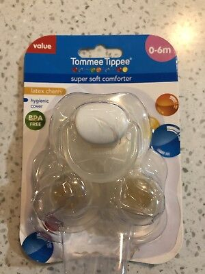 Tommee Tippee Clear Cherry Dummy X3