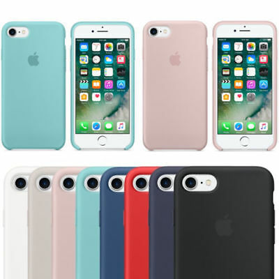 Originale Silicone Sottile Custodia per Apple iPhone 8 7 6s plus Genuine Cover o
