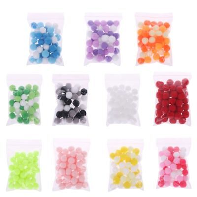 40pcs Soft Fluffy PomPoms Ball DIY Slime Beads Slime Supplies Accessories New