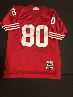 df436ac67 San Francisco 49Ers 1994 Jerry Rice #80 Red Throwback Jersey Authentic Sewn  Xs