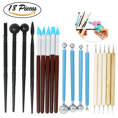 Pro Polymer Clay Tools,18/13pcs Pottery Clay Sculpting Pottery Sculpture Utensil