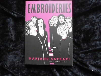 Embroideries. Marjane Satrapi. Graphic novel.