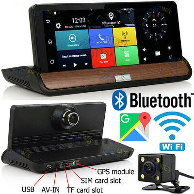 "ANDROID QUAD CORE NAVIGATORE 3G GPS WiFi 7"" CRUSCOTTO BLUETOOTH DVR DASH 1080P"