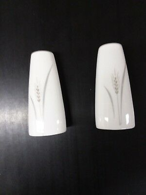 Fine China of Japan Platinum wheat salt and pepper shakers