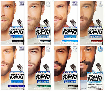 JUST FOR MEN Beard & Moustache Hair Dye Colourant - Various ...