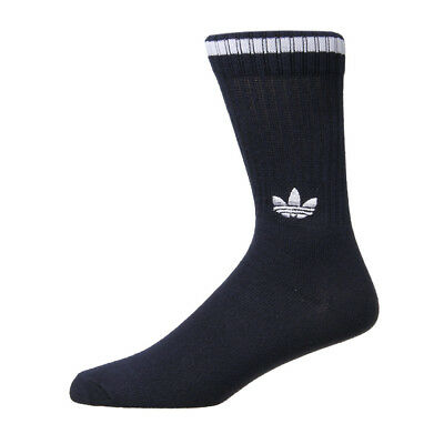 New Mens adidas  Solid Crew Two Pack Sock - Navy/White