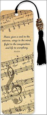Sheet Music Vintage Beaded Bookmark Book Marker for Books