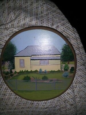 handpainted wall plaque