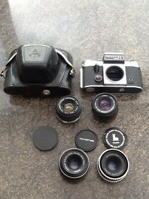 Vintage Camera Carl Zeiss Lens Canon Olympus