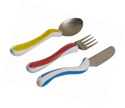 Kura Care Easy Grip Children's Cutlery - Knife, Fork & Spoon Set