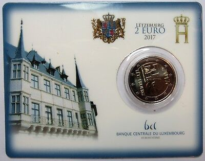 2 Euro Coin Card - LUXEMBOURG - 2017 -