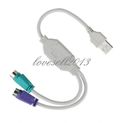 1Pc USB male to dual PS2 female cable adapter converter use for keyboard mouseGN