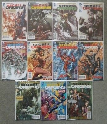 Secret Origins #1-11 Full Set..dc 2014 1St Print..vfn+..harley Quinn/batman