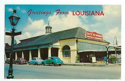 Greetings From Louisiana - Old French Market - Vintage Postcard