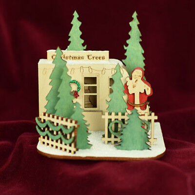 Ginger Cottages Christmas Tree Lot GC130 NIB