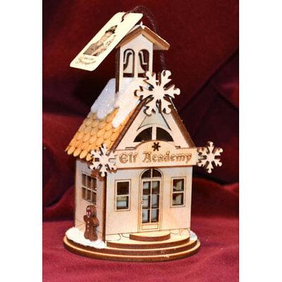 Ginger Cottages Ornaments Elf Academy - One Room Schoolhouse GC121 NIB