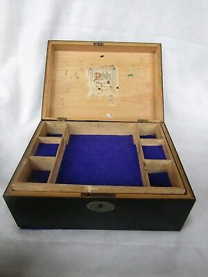 1881 Antique Sewing Box, Eliza Jones, Victorian Restored Wooden School Gift