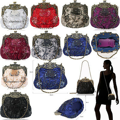 Vintage Retro Style Wedding Evening Handbags Formal Cocktail Clutch Purse Bags