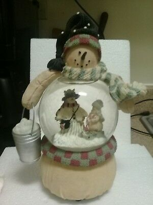 Snowman Musical Snow Globe By Heather Hykes. Plum Pudding Collection