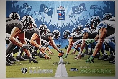 Seattle Seahawks/ Oakland Raiders NFL London Game Poster