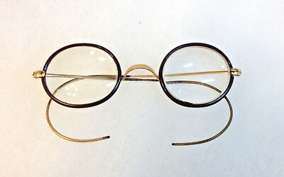 Antique Shur-on gold filled specticles eye glasses Harry Potter style steampunk