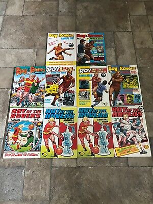 Vintage ROY OF THE ROVERS Annuals Joblot 1983-1992. 10 Annuals