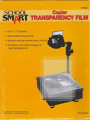 School Smart 8-1/2 x 11 in Copier Film with Removable Sensing Strip Pack of 100