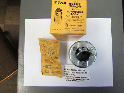 Hubbell HBL7764 Twist-Lock 4-Wire Connector Body NIB