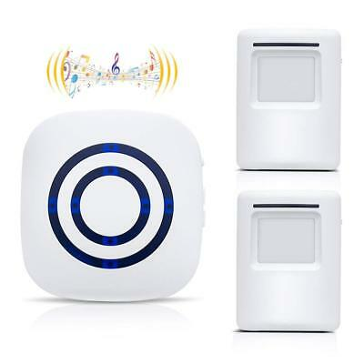 Motion Sensor Alarm Home Security Alarm Wireless Doorbell 1 Receiver 2 Sensor