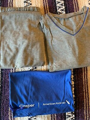 American Airlines First Class Casper Sweet Dreams Pajamas New Sealed Xl/l/m/s