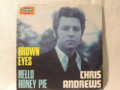 "Vinyl Single 7"" Chris Andrews, Brown Eyes"