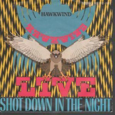 "HAWKWIND Shot Down In The Night 7"" VINYL Germany Bronze 1980 B/W Urban Guerilla"