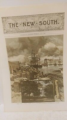 The New South Harper's Weekly Supplement. dated July 16, 1887 Wharf Scene Mobile