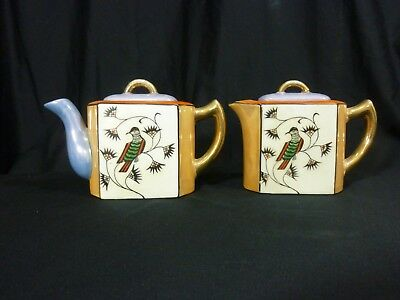 Vintage Luster-ware Demitasse Tea pot and creamer Set Hand painted Made in Japan