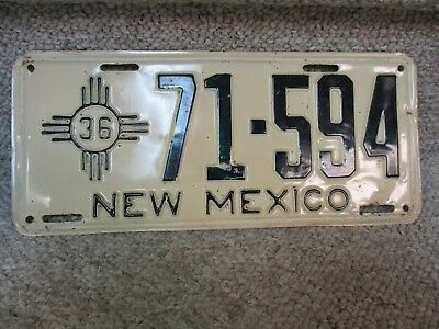 A++ 1936 New Mexico License Plate