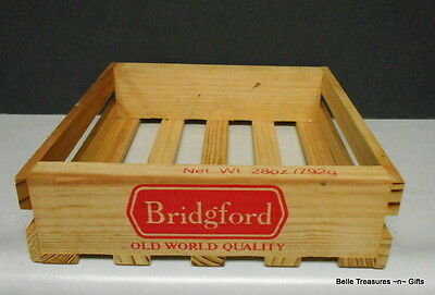 Wood Crate Collectible Bridgefort Meat Old World Quality