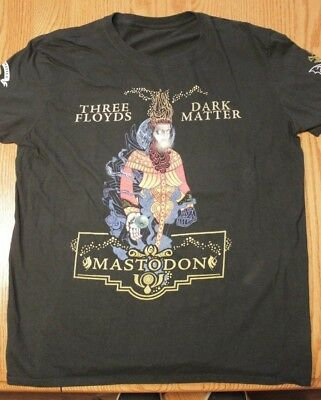 Three Floyds Mastadon Dark Matter Mens Tshirt 3 Coffee Medium Crack The Skye