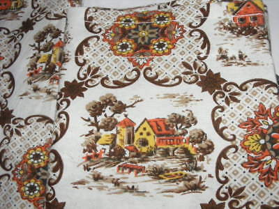 Vintage Kitchen Curtains Farm house design 2 Pair curtains - 3 valances