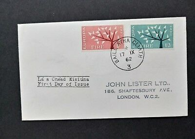 Ireland stamps FDC 1962 Europa