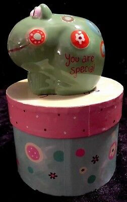 """Natural Life Green Frog Piggy Bank  """"You Are Special""""~NEW~"""