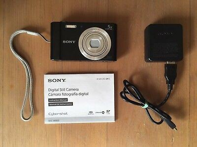 Sony Cyber-shot DSC-W800 20.1MP Point And Shoot Digital Camera (black)