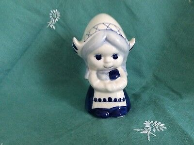 Vintage Delft Style Dutch Girl Blue & White Money Boxes -Handpainted VGC