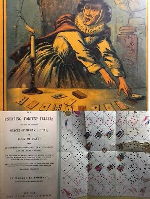 1866 Lenormand Fortune Telling Playing Cards Cartomancy Book & Mystical Table