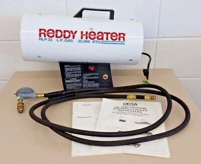 Reddy Heater Portable Propane Forced Air 35 000 Btu Heat Dragon Rlp35