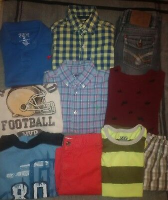 Little Boys Size 5 Mixed Clothing Lot: 10 Pieces/ Used Condition