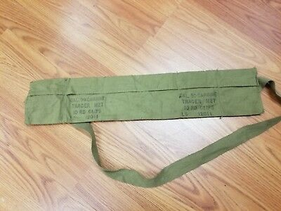 US Military 30 Cal. Carbine M1 Pouch Bandoleer 10 RD Clips LC 12011