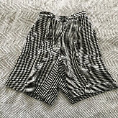 Cambridge Dry Goods Size 8 Vintage High Waisted Pleated Houndstooth Shorts EUC!