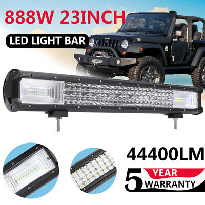 "23"" inch 888W Quad-row LED Arbeitsscheinwerfer Combo Beam Auto LKW Offroad 4WD"