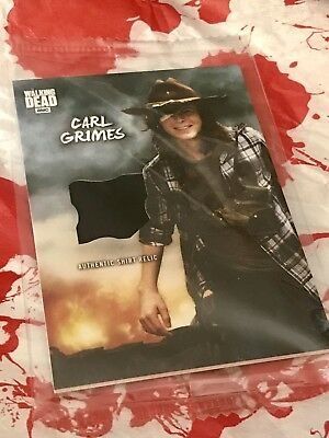 In Memory of Carl Grimes The Walking Dead Supply Drop Topps Wardrobe Relic Card